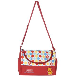 Fisher price Organized Mum Red Duffel Baby Shoudler Bag / Diaper Bag / Mother Bag