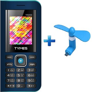 TYMES Y5000 (1.77 Display, 5000 mAh Battery ,Digital Camera, BIS certified with Wireless FM , With Free MICRO USB FAN)
