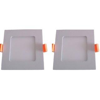 3 Watt Square Ceiling LED Panel Light (Pack of 2 Lights)