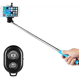 Metal Selfie Stick with Aux (Assorted Color)