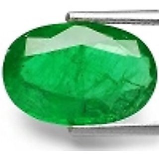 Dinesh Enterprises,Lab Certified Untreated Unheated 8.25 Ratti / 7.65 Carat Colombian Panna Emerald rectangle Premium Qu