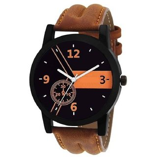 Stylish And Elegant Brown Strap Wrist Watch For Men