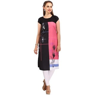 Rite Creations Multi Colour Crep Stitched Kurti- RI31_K31_M