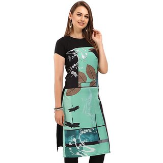 Rite Creations Multi Colour Crep Stitched Kurti- RI7_K7_M