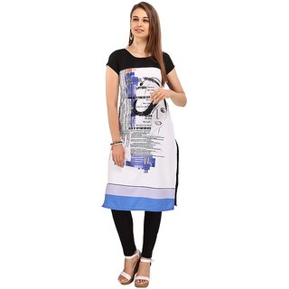 Rite Creations Multi Colour Crep Stitched Kurti- RI8_K8_M