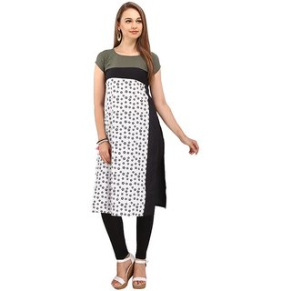 Rite Creations Multi Colour Crep Stitched Kurti- RI12_K12_M