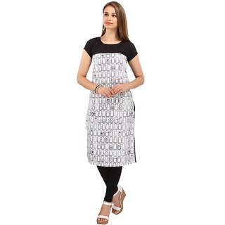 Rite Creations Multi Colour Crep Stitched Kurti- RI13_K13_M