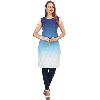Rite Creations Multi Colour Crep Stitched Kurti- RI23_K23_M
