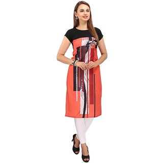 Rite Creations Multi Colour Crep Stitched Kurti- RI27_K27_M