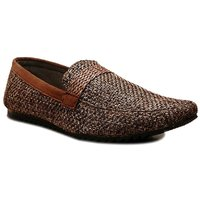 0Annoyance Mens Brown Jute Loafer Shoes