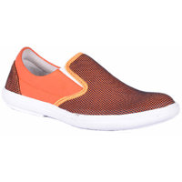 0Annoyance Mens Orange Slipon Loafers
