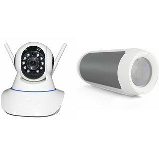 Zemini Wifi CCTV Camera and Charge K3 Bluetooth Speaker for MICROMAX BOLT D321(Wifi CCTV Camera with night vision |Charge K3 Plus Bluetooth Speaker)