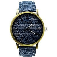 Asgard Round Dial Blue Leather Strap Watch For Men