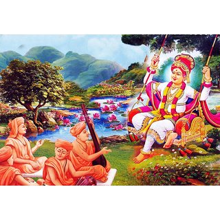 Harmony Arts Online Presents Swaminarayan God Painting For Home & Office Decor. Model no : GSW2_a. Size :- 18 x 12 (in.)