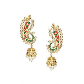 Rubans Golden Color Ethnic Classic Jhumkas
