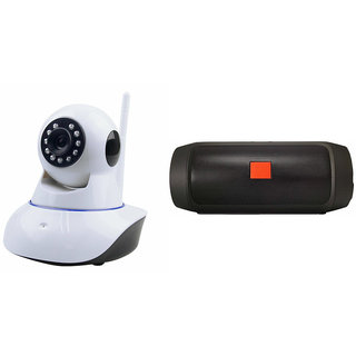 Zemini Wifi CCTV Camera and Charge K3 Bluetooth Speaker for SAMSUNG GALAXY A 3(Wifi CCTV Camera with night vision |Charge K3 Plus Bluetooth Speaker)