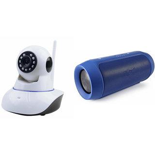 Zemini Wifi CCTV Camera and Charge K3 Bluetooth Speaker for SAMSUNG GALAXY A 7 (Wifi CCTV Camera with night vision  Charge K3 Plus Bluetooth Speaker)