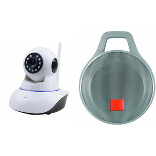 Zemini Wifi CCTV Camera and Clip Bluetooth Speaker for LENOVO zuk z1(Wifi CCTV Camera with night vision |Clip Bluetooth Speaker)