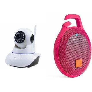 Zemini Wifi CCTV Camera and Clip Bluetooth Speaker for LG OPTIMUS L9 II(Wifi CCTV Camera with night vision |Clip Bluetooth Speaker)