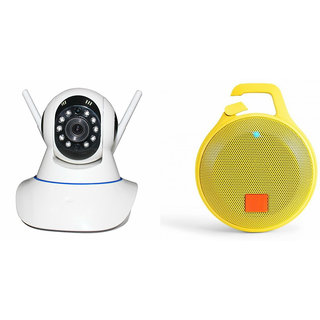 Zemini Wifi CCTV Camera and Clip Bluetooth Speaker for LENOVO a6000(Wifi CCTV Camera with night vision |Clip Bluetooth Speaker)
