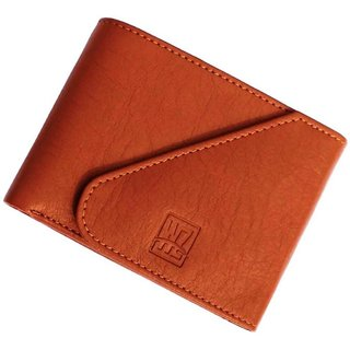 wallets for men in tan color, 3 card slots(wenzest) (Synthetic leather/Rexine)