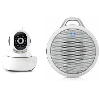 Zemini Wifi CCTV Camera and Clip Bluetooth Speaker for LG L80.(Wifi CCTV Camera with night vision |Clip Bluetooth Speaker)
