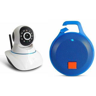 Zemini Wifi CCTV Camera and Clip Bluetooth Speaker for SAMSUNG GALAXY GALAXY CORE MAX(Wifi CCTV Camera with night vision  Clip Bluetooth Speaker)