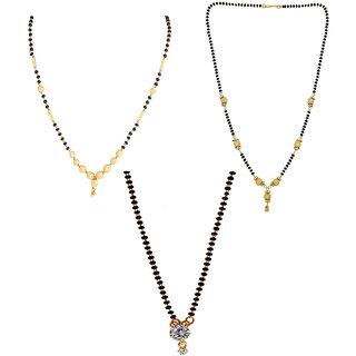 Chrishan Gold Plated Marvelous Fashionable Mangalsutra Combo Set For Women.