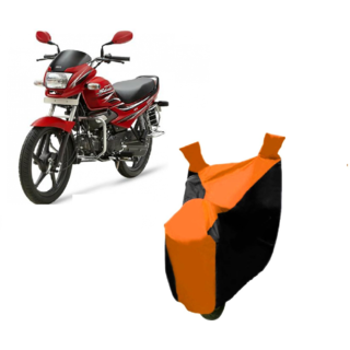 AutoAge Orange with Black Two Wheeler Cover For  Super Splendor Hero