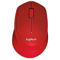 Logitech M331 Silent Plus Wireless Mouse- Red