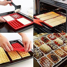 Shunda Waffles Cake Chocolate Biscuit Silicone Baking Mould Kitchen Tool