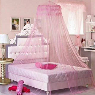 Baby Oodles Double Nylon Pink Kids & Baby Mosquito Net
