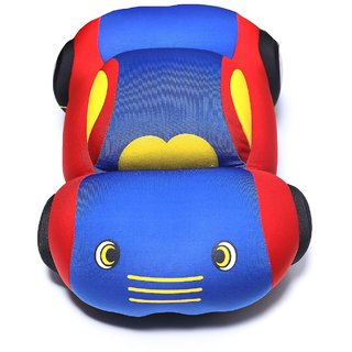 Baby Oodles Blue 3D Car Shaped Super Plush Pillow / Cushion For Kids