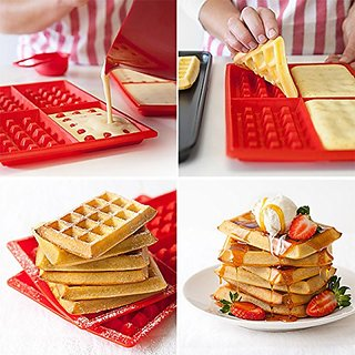 Waffles Cake Chocolate Biscuit Silicone Baking Mould Kitchen Tool
