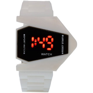 Nubela New White Color Rocket Shape Digital Led Watch