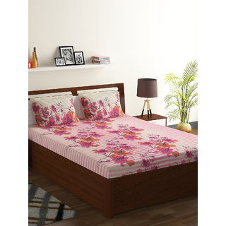55% Polyester 45% Cotton Double Bed Sheet Foliage