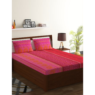 55 Polyester 45 Cotton Double Bed Sheet Foliage