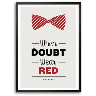 When In Doubt Wear Red Bill Blass Fashion Boutique Quotes Framed