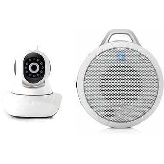 Mirza Wifi CCTV Camera and Clip Bluetooth Speaker for INFOCUS BINGO 50(Wifi CCTV Camera with night vision |Clip Bluetooth Speaker)