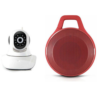 Mirza Wifi CCTV Camera and Clip Bluetooth Speaker for GIONEE ELIFE E6(Wifi CCTV Camera with night vision |Clip Bluetooth Speaker)