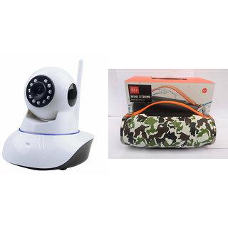 Zemini Wifi CCTV Camera and Mini Xtreme K5 Plus Bluetooth Speaker for SAMSUNG GALAXY GRAND PRIME(Wifi CCTV Camera with night vision |Mini Xtreme K5 + Bluetooth Speaker)