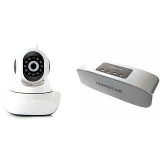 Clairbell Wifi CCTV Camera and Hopestar H11 Bluetooth Speaker for XOLO 8X-1000(Wifi CCTV Camera with night vision |Hopestar H11 Bluetooth Speaker)