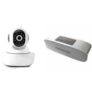 Clairbell Wifi CCTV Camera and Hopestar H11 Bluetooth Speaker for LENOVO a805e(Wifi CCTV Camera with night vision |Hopestar H11 Bluetooth Speaker)