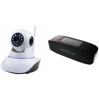 Clairbell Wifi CCTV Camera and Hopestar H11 Bluetooth Speaker for LENOVO a690(Wifi CCTV Camera with night vision |Hopestar H11 Bluetooth Speaker)