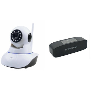 Clairbell Wifi CCTV Camera and Hopestar H11 Bluetooth Speaker for XOLO Q600 CLUB(Wifi CCTV Camera with night vision |Hopestar H11 Bluetooth Speaker)