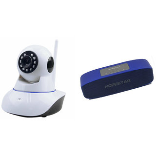 Clairbell Wifi CCTV Camera and Hopestar H11 Bluetooth Speaker for PANASONIC ELUGA S(Wifi CCTV Camera with night vision |Hopestar H11 Bluetooth Speaker)