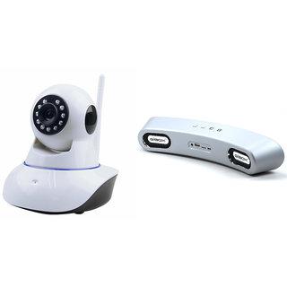 Zemini Wifi CCTV Camera and Giobx G6 Bluetooth Speaker for MICROMAX CANVAS L(Wifi CCTV Camera with night vision |Gibox G6 Plus Bluetooth Speaker)