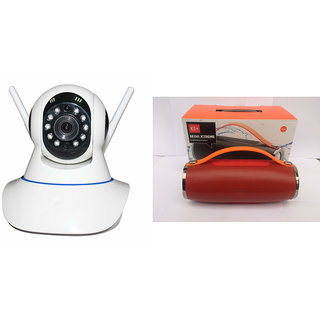 Mirza Wifi CCTV Camera and Mini Xtreme K5 Plus Bluetooth Speaker for OPPO R7S(Wifi CCTV Camera with night vision |Mini Xtreme K5 + Bluetooth Speaker)