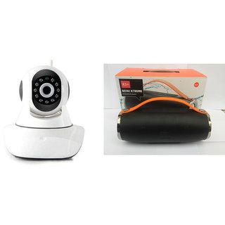 Mirza Wifi CCTV Camera and Mini Xtreme K5 Plus Bluetooth Speaker for MICROMAX CANVAS ELANZA 2(Wifi CCTV Camera with night vision |Mini Xtreme K5 + Bluetooth Speaker)