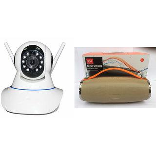 Mirza Wifi CCTV Camera and Mini Xtreme K5 Plus Bluetooth Speaker for MICROMAX BOLT A069(Wifi CCTV Camera with night vision  Mini Xtreme K5 + Bluetooth Speaker)